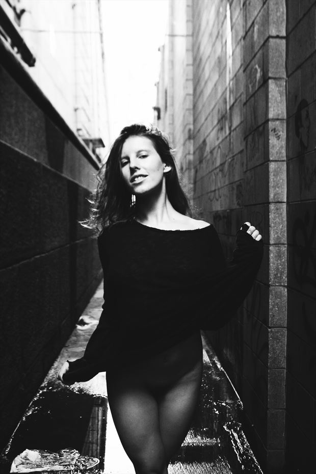 In the Alley  Candid Photo by Model VexV oir