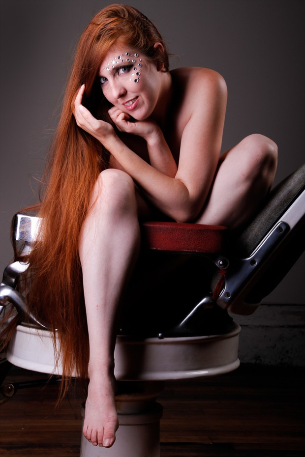 In the chair Artistic Nude Photo by Model Kitteninstrings