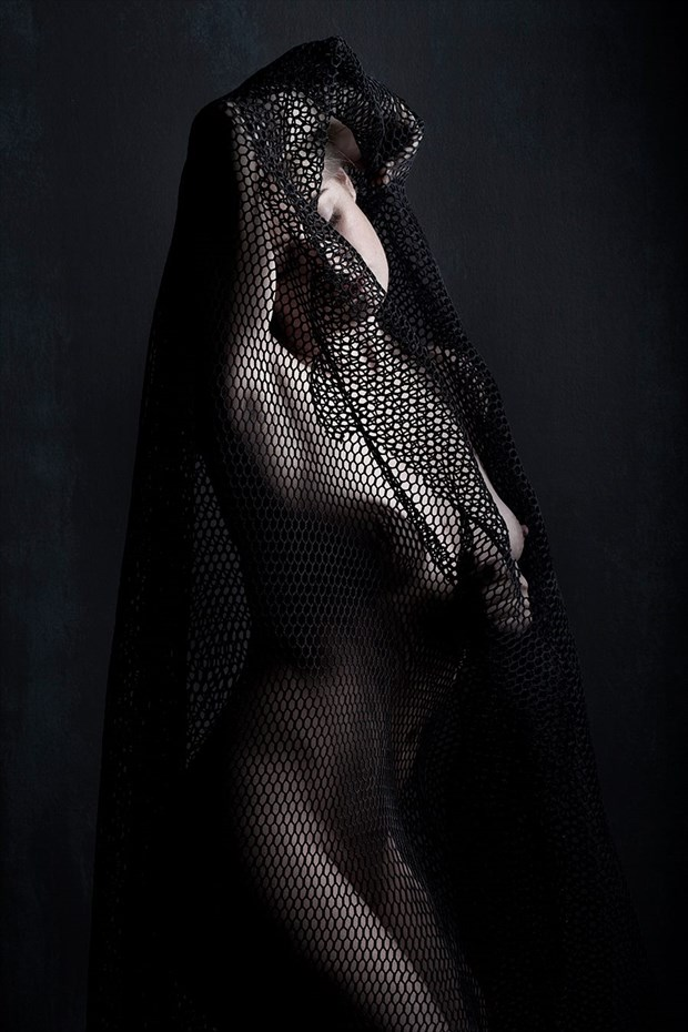In the net of Time Artistic Nude Artwork by Model Deeza Lind