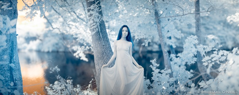 Infrared Art V Artistic Nude Photo by Model A N O N Y M