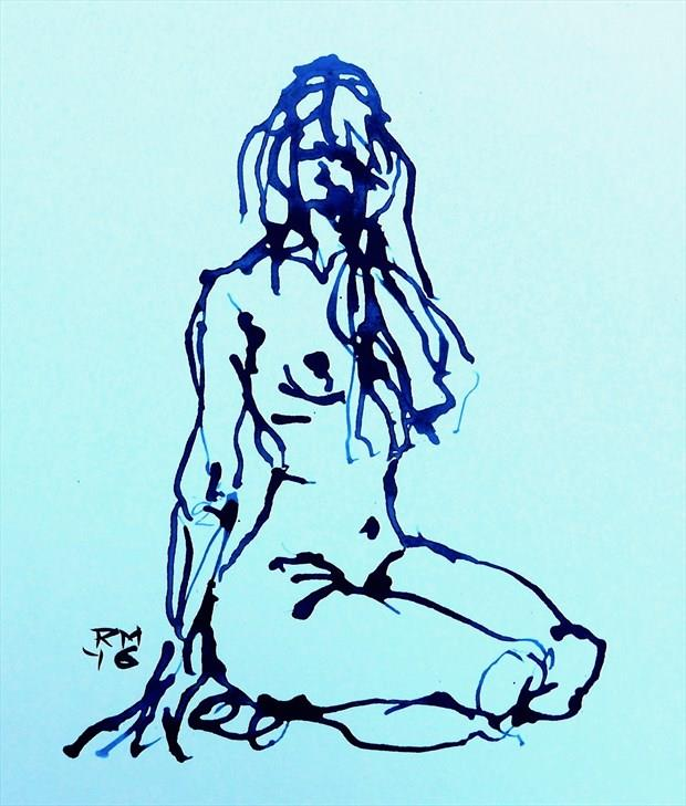 Ink Maiden Artistic Nude Artwork by Artist Rob MacGillivray
