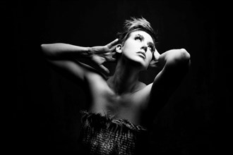 Into the Light Studio Lighting Artwork by Model Deeza Lind