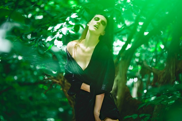 Into the Woods Nature Photo by Model Satine Lynn