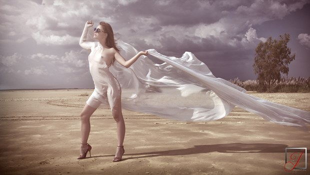 Into the breeze Artistic Nude Artwork by Photographer Omega Photography