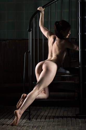 Iron Staircase Artistic Nude Photo by Photographer Carl Grim
