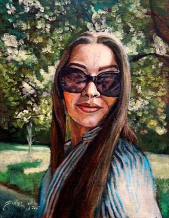 Ivana Portrait Artwork by Artist Daniel