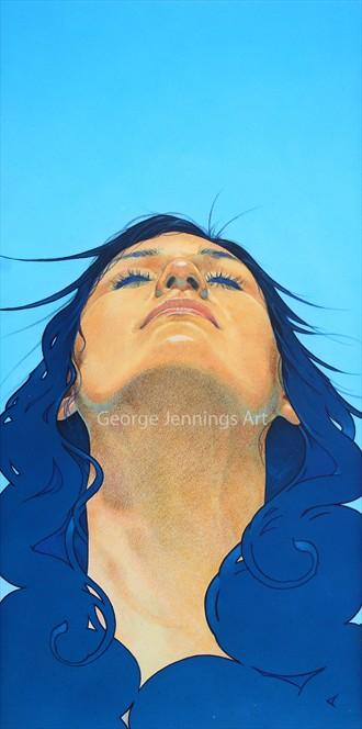 Jackie Close Up Artwork by Artist jart64