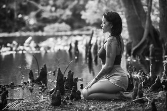 Jasmine kneeling at the river, Ocala  Nature Photo by Photographer Phillip D Breske