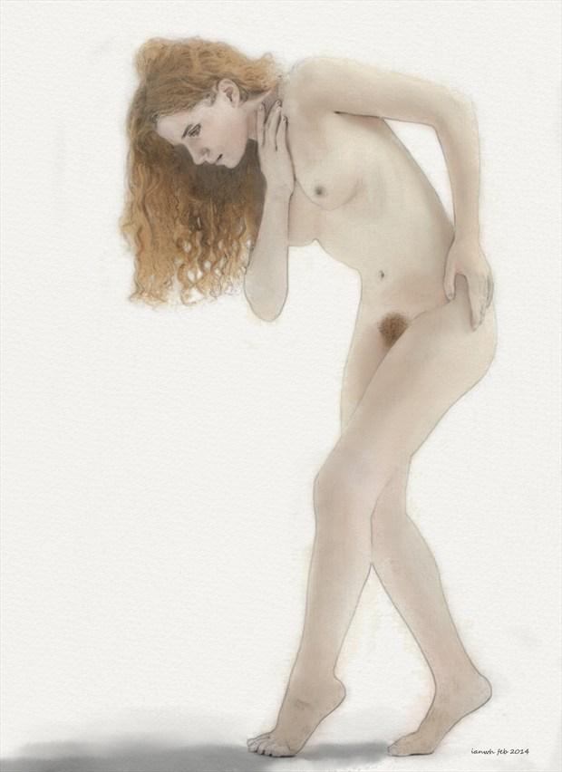 Jen Artistic Nude Artwork by Artist ianwh