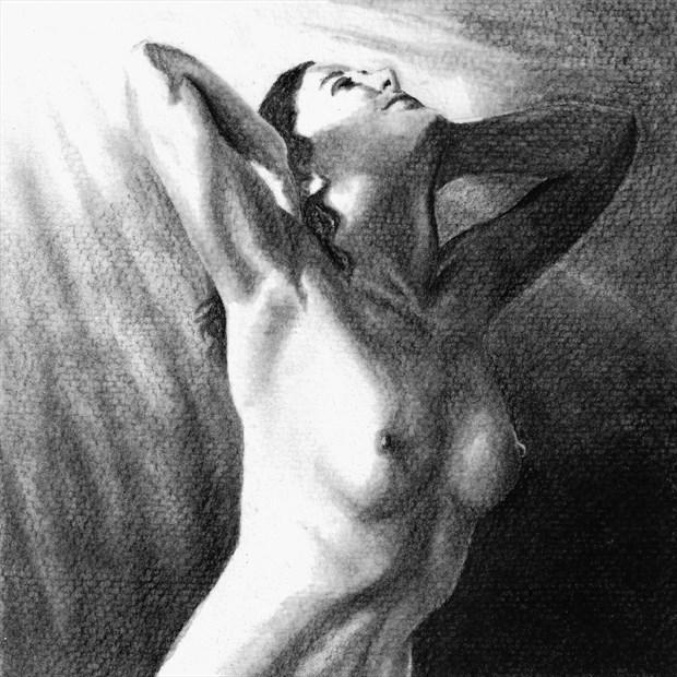 Jenny in the Light Artistic Nude Artwork by Artist Nadia Vanilla