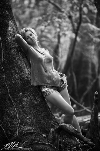 Jess leaning against a tree, Chiefland Nature Photo by Photographer Phillip D Breske