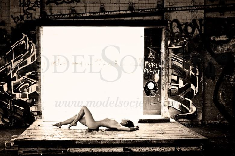 Nude in ruins ii photography by john donica