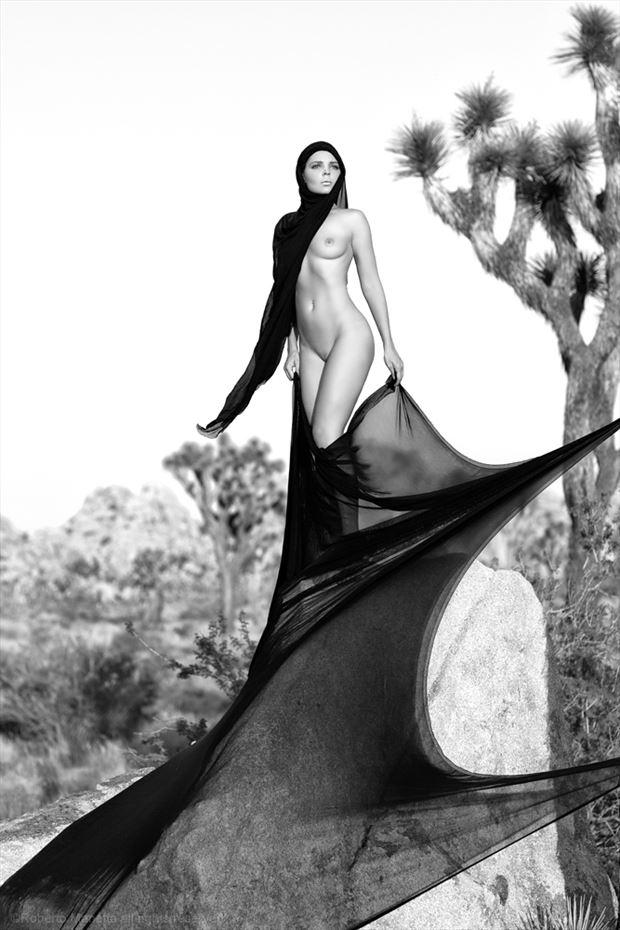 Joshua Tree Land Princess Artistic Nude Photo by Photographer Roberto Manetta