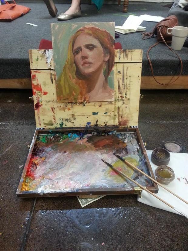 Julie Portrait Artwork by Artist ShunXie