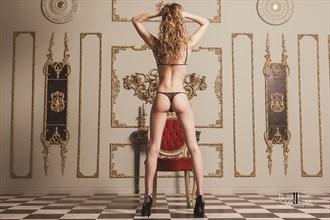 Juliette on the Trianon set Lingerie Photo by Photographer Black Label Boudoir