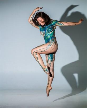 Jump Artistic Nude Photo by Model Charlotte Dell'Acqua