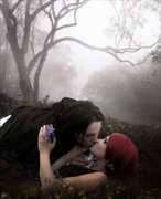 Just One Kiss Sensual Artwork by Artist phatpuppyart