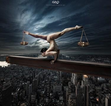 Justice Artistic Nude Photo by Artist GonZaLo Villar