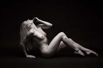 KC on black Artistic Nude Photo by Photographer Barrie