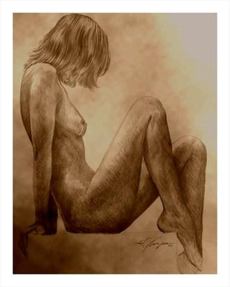 KRISTAL  Artistic Nude Artwork by Artist Joel Thompson