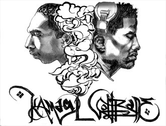 Kamaal Coltrane Surreal Artwork by Artist boot cheese 3000