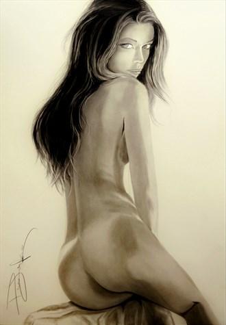 Kassi Artistic Nude Artwork by Artist DML ART