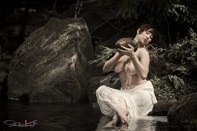 Kat bathing by the stream. Artistic Nude Photo by Photographer John Anthony