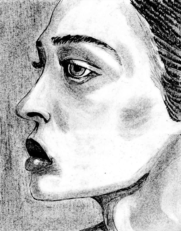 Kate Drawn Expressive Portrait Artwork by Photographer Primus