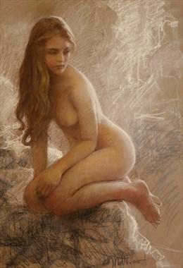 Katja's Lookout Artistic Nude Artwork by Artist Matthew Joseph Peak