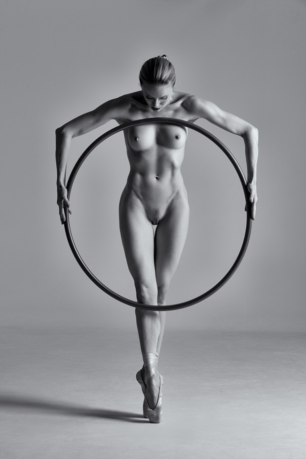 Katy and the Hoop Artistic Nude Photo by Photographer eroticiques