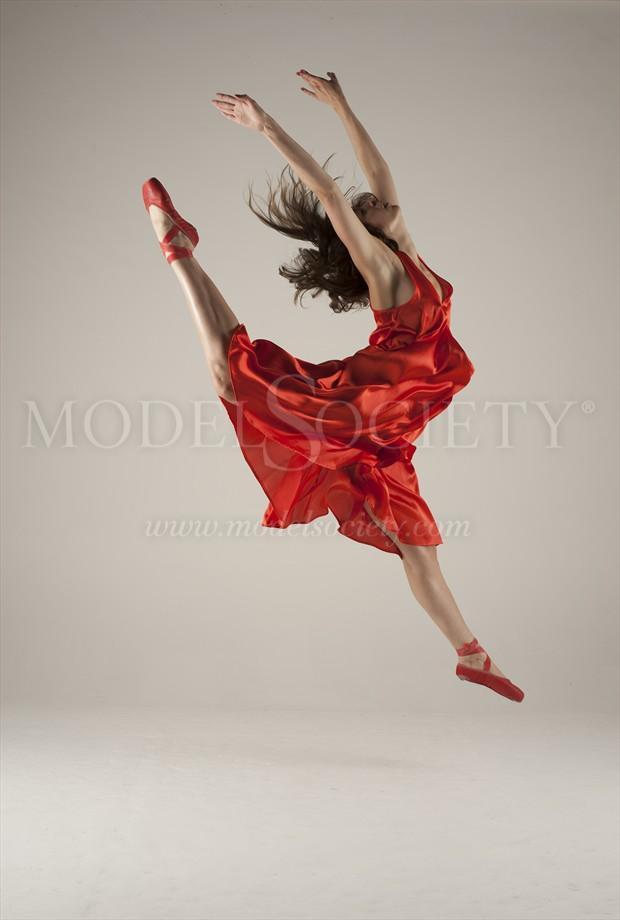 Kayleigh leaping Studio Lighting Photo by Photographer mannybash