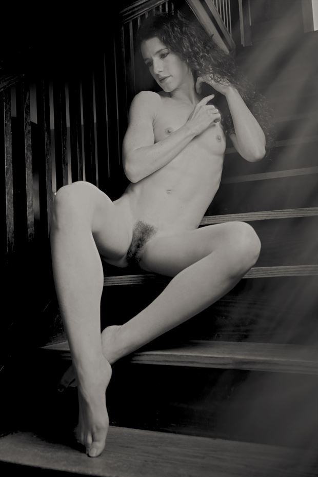 Keira on the stairs Artistic Nude Photo by Photographer StromePhoto