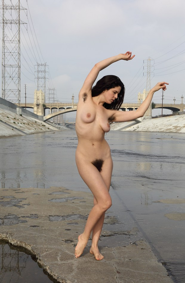 Kelsey in Los Angeles river basin Artistic Nude Photo by Photographer pblieden