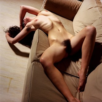 Kelsey in Passionate Repose Artistic Nude Photo by Photographer George Pitts