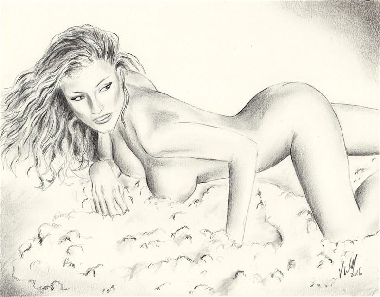 Kerri Kendall Artistic Nude Artwork by Artist Vincent_Wolff_Art