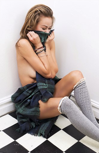 Kilts, checkerboard floors and laughs Glamour Photo by Model Lauren Taylor