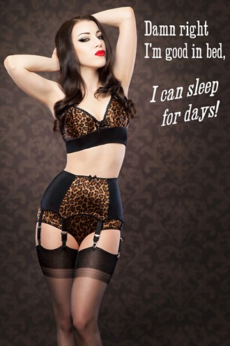 Kiss Me Deadly retro poster Lingerie Photo by Model Morgana