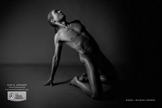 Kneeling, leaning back Artistic Nude Photo by Model Michael SCM Model