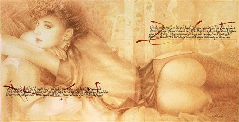 L'INDOLENTE Artistic Nude Artwork by Artist Girotto Walter