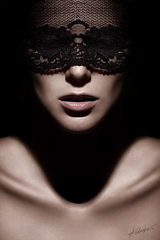 Lace Eyes Close Up Photo by Photographer Antonia Glaskova