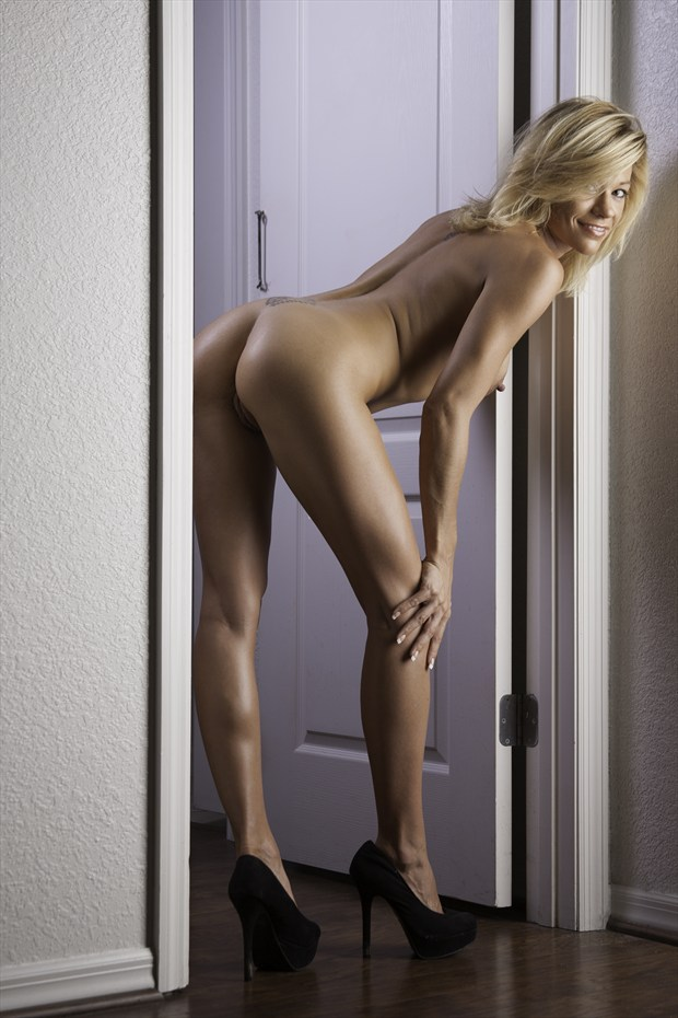 Lacey Black Heels Artistic Nude Photo by Photographer Chris Gursky