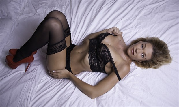 Lacey in lace Lingerie Photo by Photographer Chris Gursky