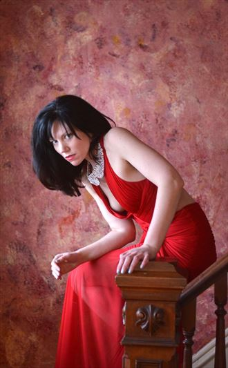 Lady in Red Sensual Photo by Photographer seanuu60