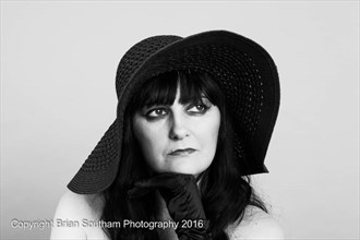Lady in a hat Fashion Photo by Photographer Brian Southam