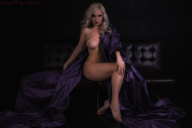Lady with Purple Artistic Nude Photo by Photographer Miller Box Photo