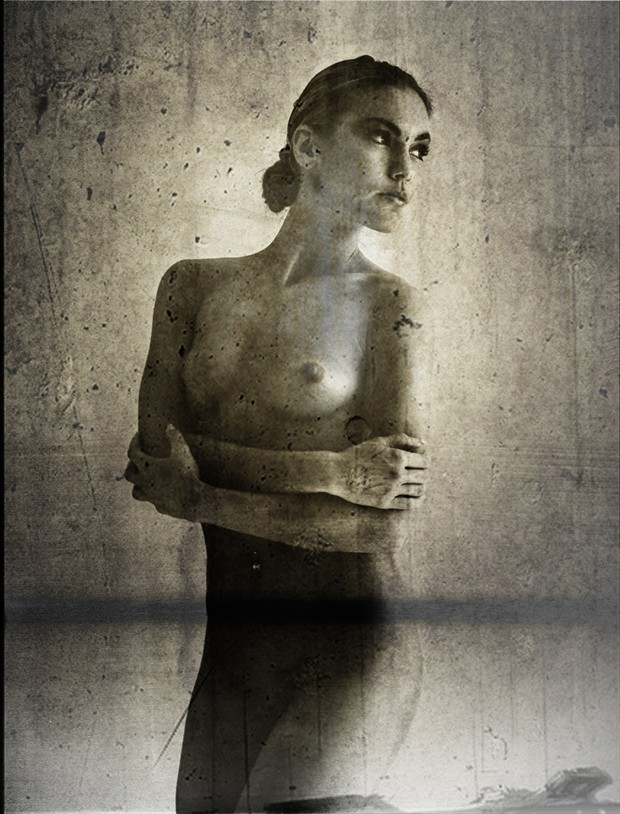 Lady with a flower  Artistic Nude Artwork by Photographer Christian Tode