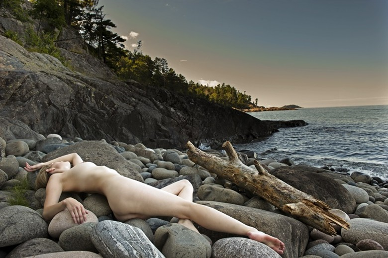 Lake Superior Driftmodel Artistic Nude Photo by Model Mila