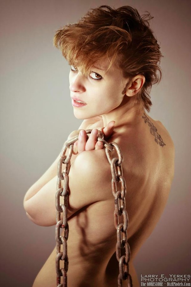 Larry E. Yerkes Photography, Chained Alternative Model Photo by Model Jennuh Jabberwock