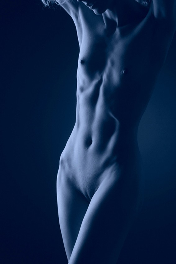 Laura in Blue Artistic Nude Photo by Photographer Pat Berrett