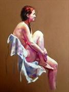 Laura sitting Artistic Nude Artwork by Artist Rod